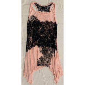 Pink and lace tank
